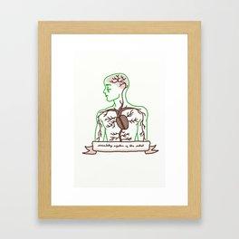 Circulatory system of the artist (M) Framed Art Print