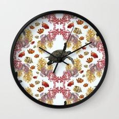 Coral Diamonds Wall Clock