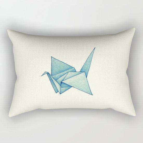 High Hopes   Origami Crane Rectangular Pillow