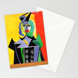 Picasso Style-Double Face 3 Stationery Cards
