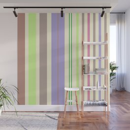 Stripes in fresh color for a good mood. Wall Mural