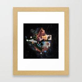 Only trust the dog Framed Art Print