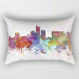 Essen skyline in watercolor background Rectangular Pillow