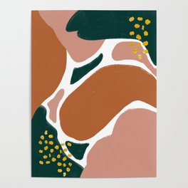 Autumn Abstract Piece Poster