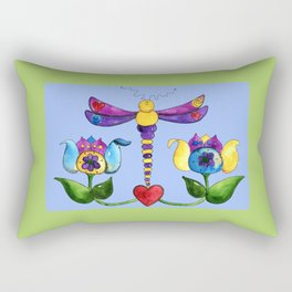 Dragonfly Love Rectangular Pillow