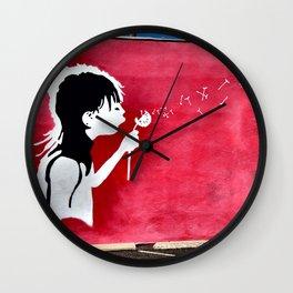 Close Your Eyes & Make A Wish Wall Clock