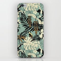 Modern Jungle Rain Forest Minimalist Parrot iPhone Skin