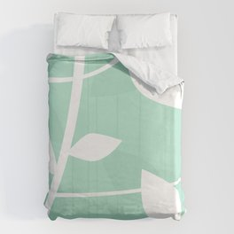 Vine pattern in Mint by Friztin Duvet Cover