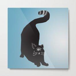 Strange Cat Metal Print