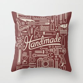 Make Handmade - Red Throw Pillow