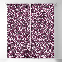 Primal Circle (Fuchsia) Blackout Curtain