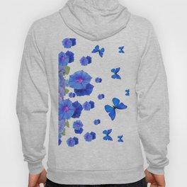 BABY BLUE ART BLUE BUTTERFLIES & MORNING GLORIES Hoody