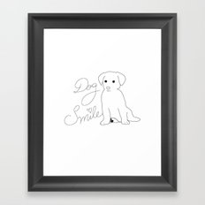 Dog Smile Framed Art Print