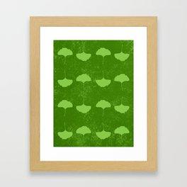 Gingko Pattern Framed Art Print
