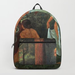 Women bathing with white veils by the Forest River by Paul Serusier Backpack