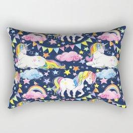 Unicorns, Rainbows & Stars Rectangular Pillow