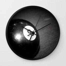 Eight Ball-Black Wall Clock
