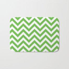 Green Chevrons Pattern Bath Mat