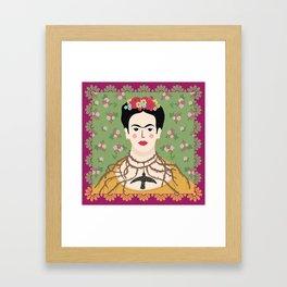Frida Viva Cushion Framed Art Print
