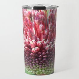 Close Up of An Ornamental Onion or Drumstick Allium Travel Mug