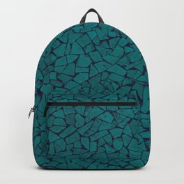 Teal Lumber Mosaic Pattern Backpack
