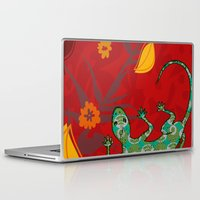 lizard Laptop & iPad Skins featuring Lizard by Agustina Echarry