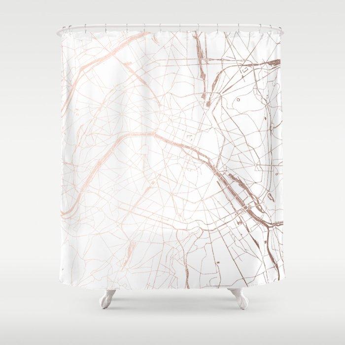 Paris France Minimal Street Map