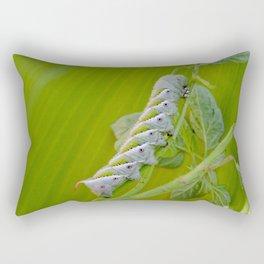 Tomato Horn Worm Rectangular Pillow