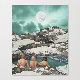 Moon Bathing Canvas Print