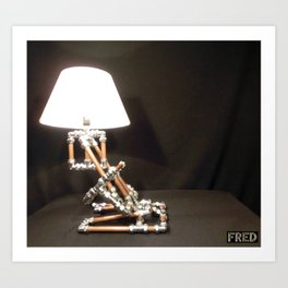 Articulated Desk Lamps - Copper and Chrome Collection - FredPereiraStudios_Page_18 Art Print