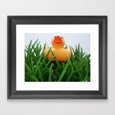 Rubber duckie Framed Art Print