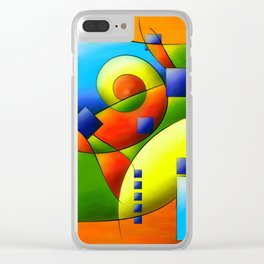Fantisimella - colourful birdy abstract Clear iPhone Case