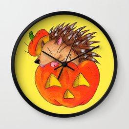 Hedgie Lantern Wall Clock