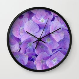 Hydrangea lilac Wall Clock