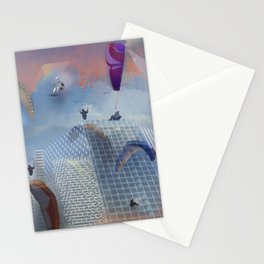 Dream Gliding Cityscape Flash Stationery Cards