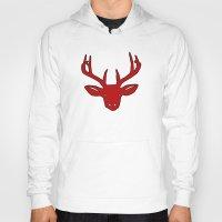 elk Hoodies featuring Elk by Robert Payton
