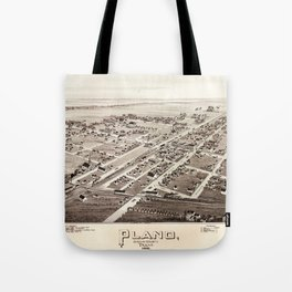 Map Of Plano 1891 Tote Bag