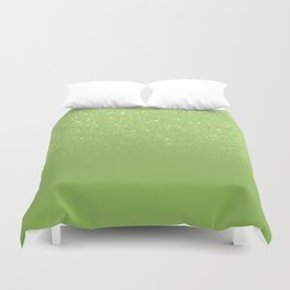 Modern green glitter ombre color block greenery color of the year pattern Duvet Cover