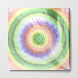 Mandala hippie times Metal Print