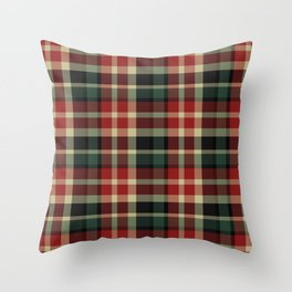 Holiday Plaid 20 Throw Pillow