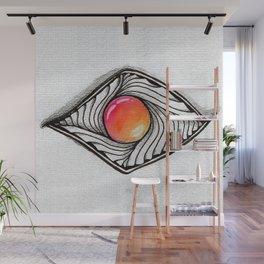 Doodled Gem Sparkle Eye Wall Mural