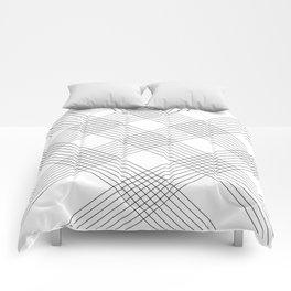 Crossing lines Comforters