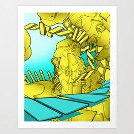 AUTOMATIC WORM 1 Art Print