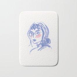 A Geek Girl Bath Mat
