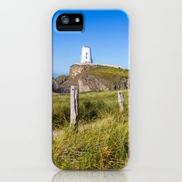 Pathway to lighthouse,Llanddwyn Island, Anglesey, Wales iPhone Case