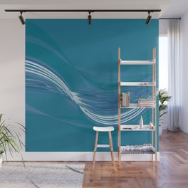 Blue Wave Abstract Wall Mural