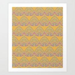 Art Deco Yellow Art Print