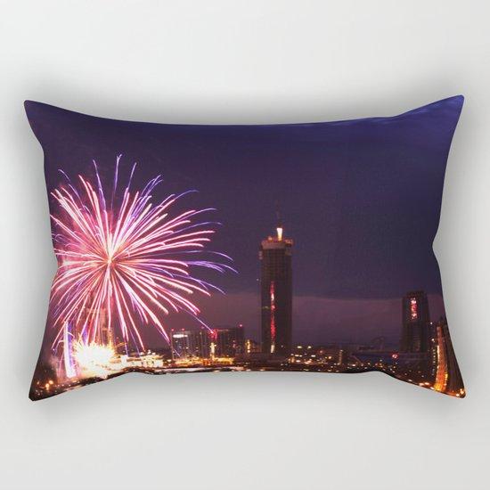 Firework in storm clouds Rectangular Pillow