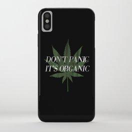 Don't Panic it's Organic Vintage Potleaf Print iPhone Case