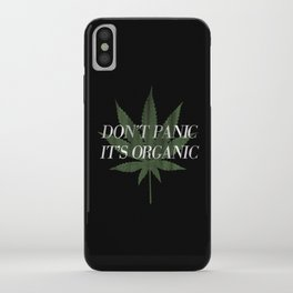 Don't Panic it's Organic Vintage Potleaf Print iPhone Case
